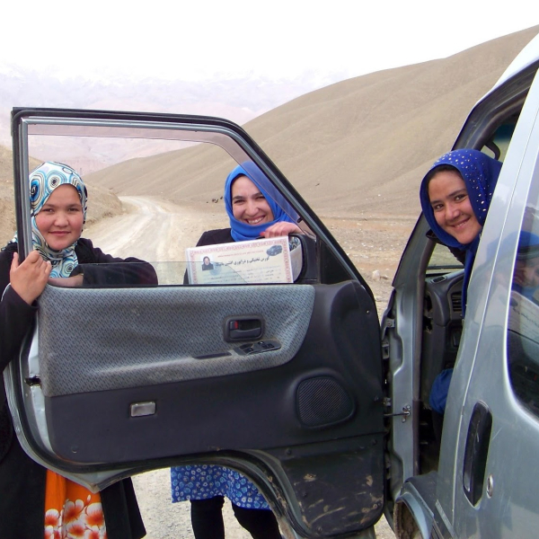 Women behind the wheel in Afghanistan